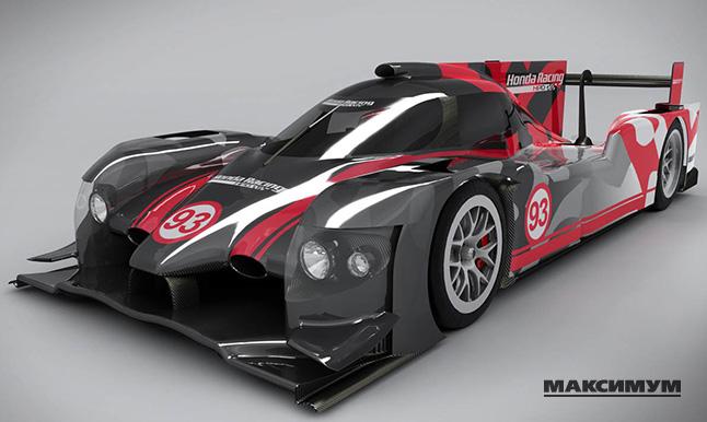 Honda представляет новый гоночный болид для соревнований в классе LMP2: ARX-04b LMP2 Coupe.